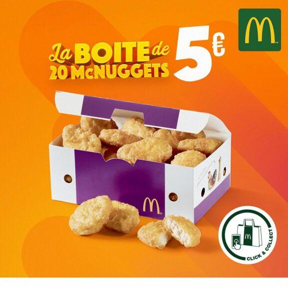 Boite de 20 nuggets (Click&Collect) - Châtillon (92)