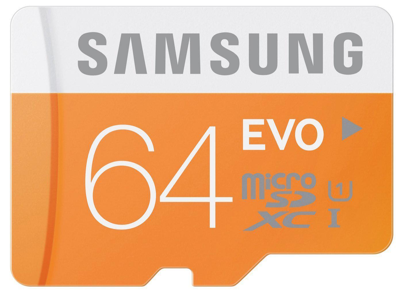 Carte microSDXC Samsung Evo Classe 10 - 64 Go avec adaptateur