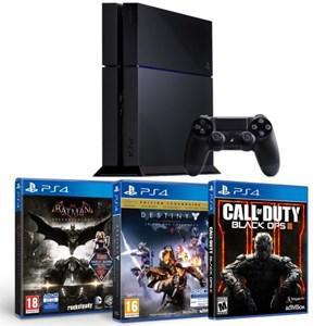 Console PS4 500 Go (Nouveau Châssis) + Call of Duty Black Ops III + Batman Arkham Knight + Destiny le Roi des Corrompus