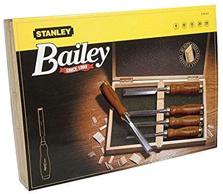 Ciseau à bois avec manche bois Stanley 2-16-217  - 5 pièces