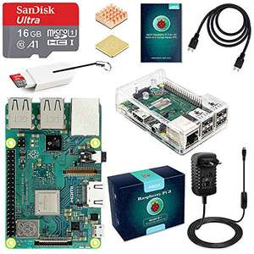 Starter Kit Raspberry Pi 3 B+ Abox + Carte micro SD SanDisk 16 Go (vendeur tiers)