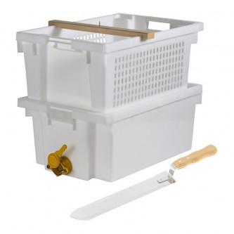 Bac + couteau à désoperculer pour apiculture - apiculture.net