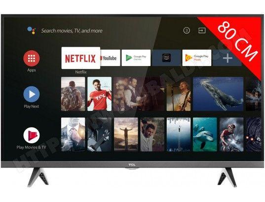 """TV 32""""  TCL 32ES583 - Hd, Android TV, ChromeCast intégré"""