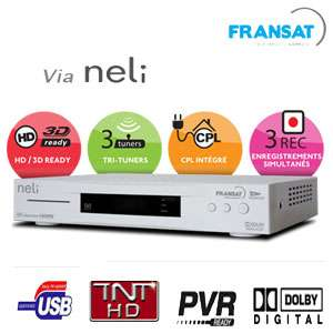 NELI SAT BASE Récepteur satellite multi-TV Fransat HD