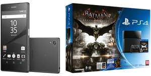 "Pack Smartphone 5.2"" Sony Xperia Z5 + Console PlayStation 4 500 Go Noire + Batman Arkham Knight (ODR 70€)"