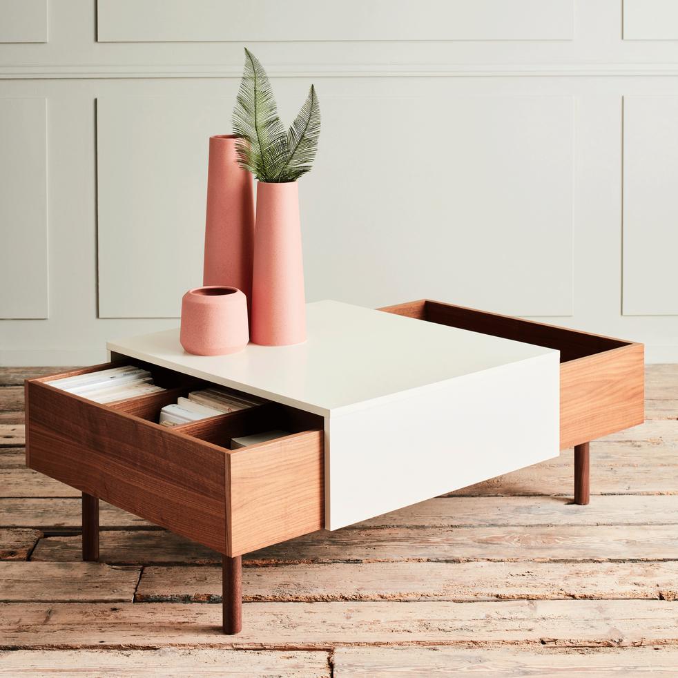 Table basse Alinéa Sete plaqué noyer - 120 x 70 x 41cm