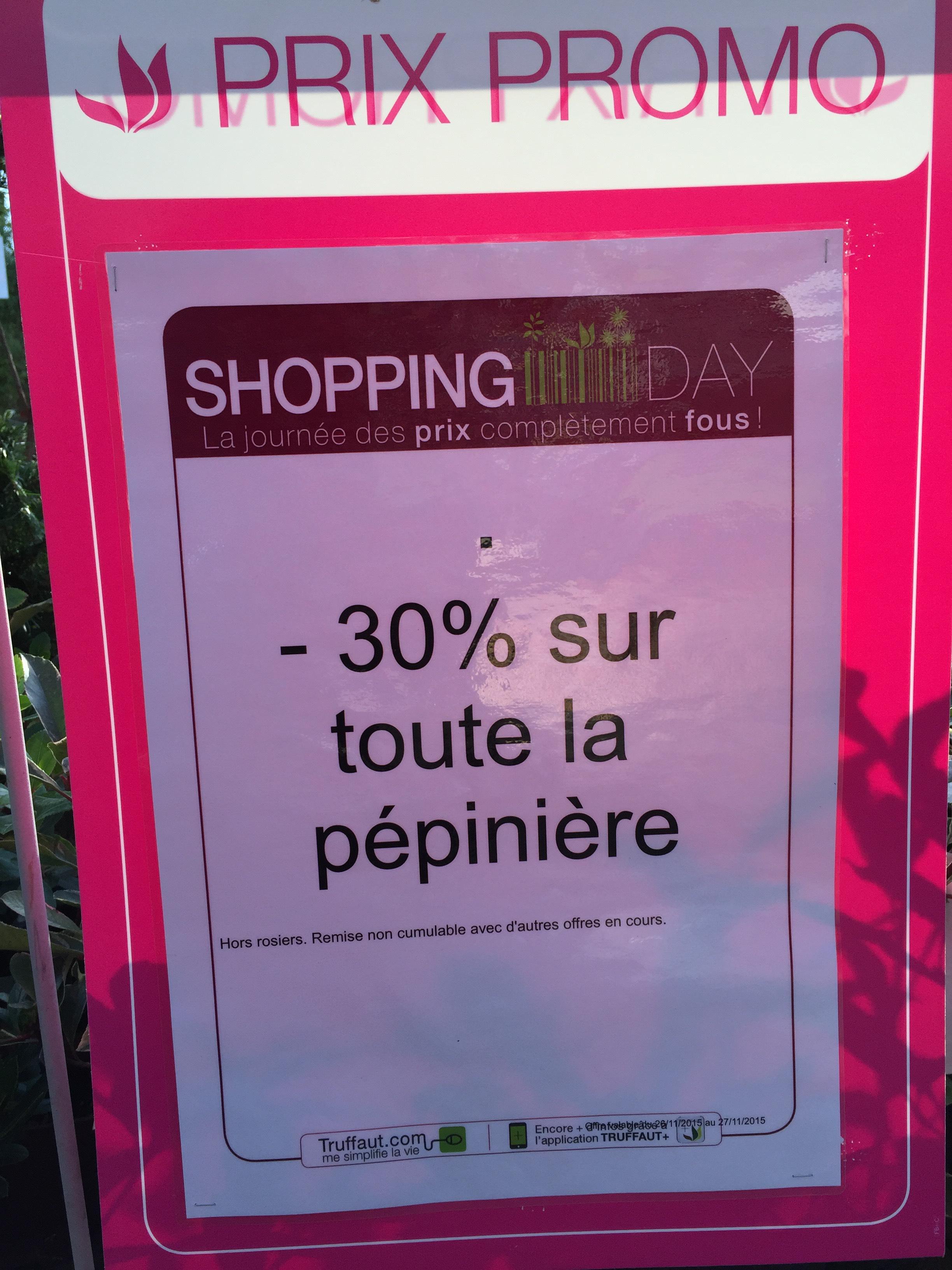 30% de réduction sur les plantes de pépinières