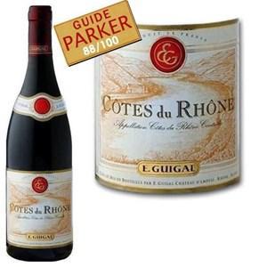 Bouteille de vin rouge E.Guigal Côtes du Rhône 2011