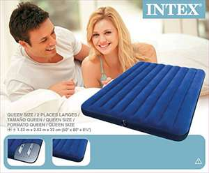 Matelas gonflable Intex Downy Queen - 2 personnes, 203x152x22 cm
