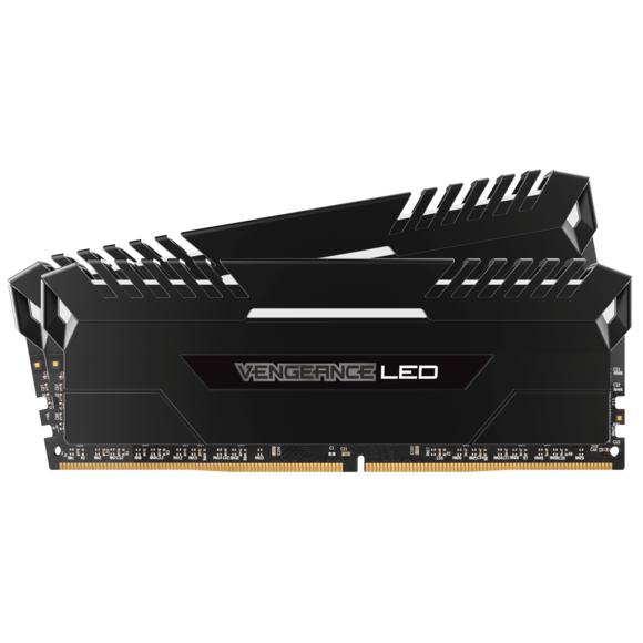 Kit mémoire RAM Corsair Vengeance LED - 16Go (2x8Go), DDR4, 3200 MHz, Cas 16