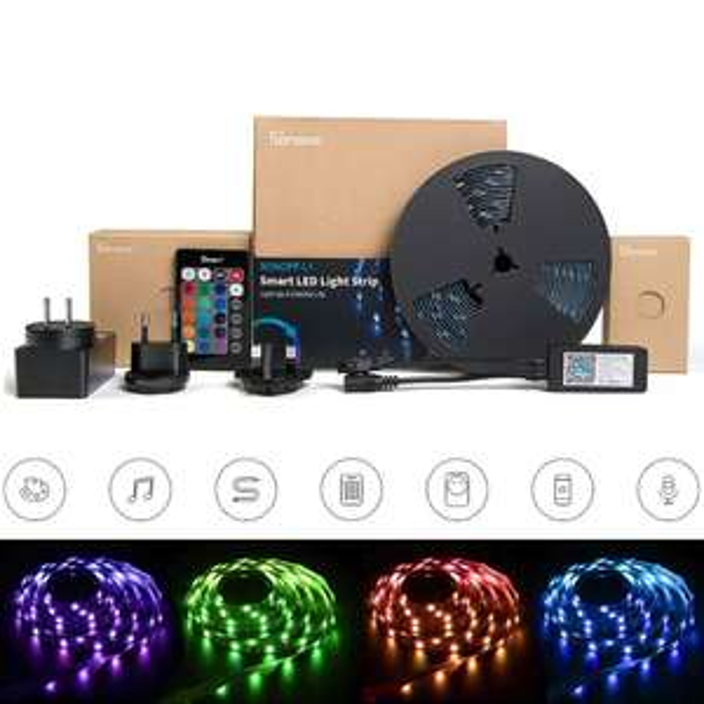 Bande LED connectée Sonoff - 2 m, compatible Google Home, Alexa