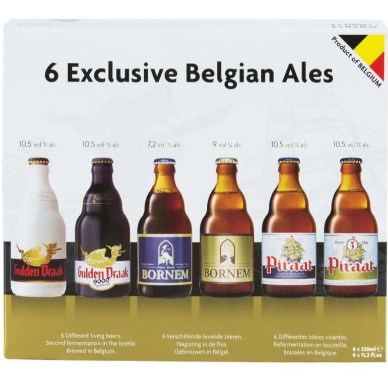 Assortiment de 6 Bières Belges Exclusives (Variétés Mixtes) - 6 x 33cl