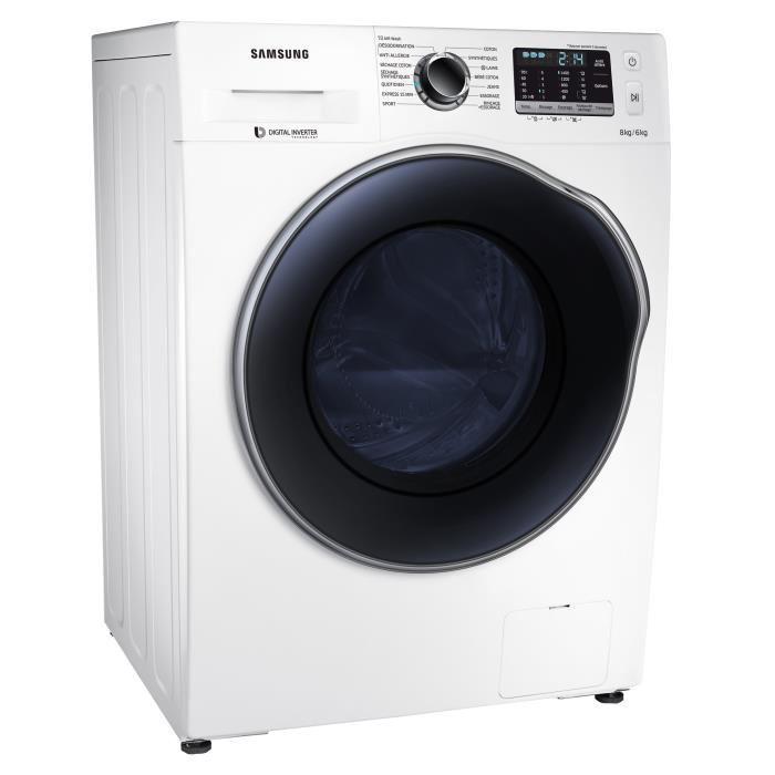 Lave linge séchant Samsung WD80J5430AW EcoBubble 8kg (via ODR de 50€)