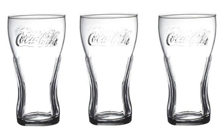 Lot de 3 verres Coca Cola - 27 cl
