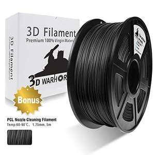 Bobine de filament 3D PLA 1.75mm, 1Kg - Noir
