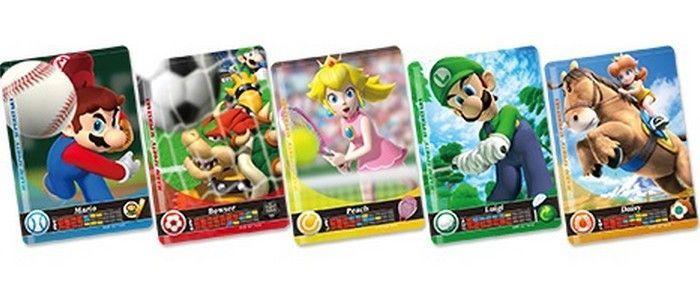 5 Cartes Amiibo pour Jeu Mario Sports Superstar 3DS
