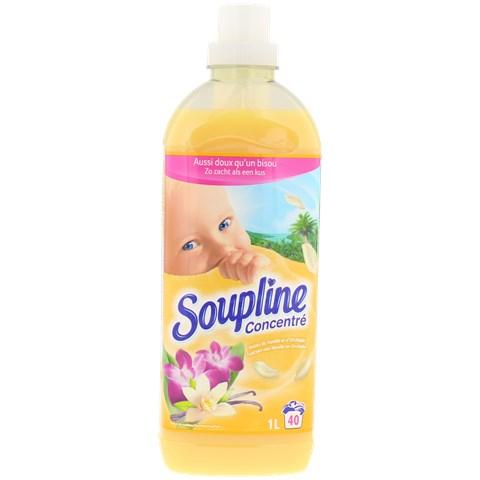 Flacon d'adoucissant concentré Soupline Vanille & Orchidée - 1 L