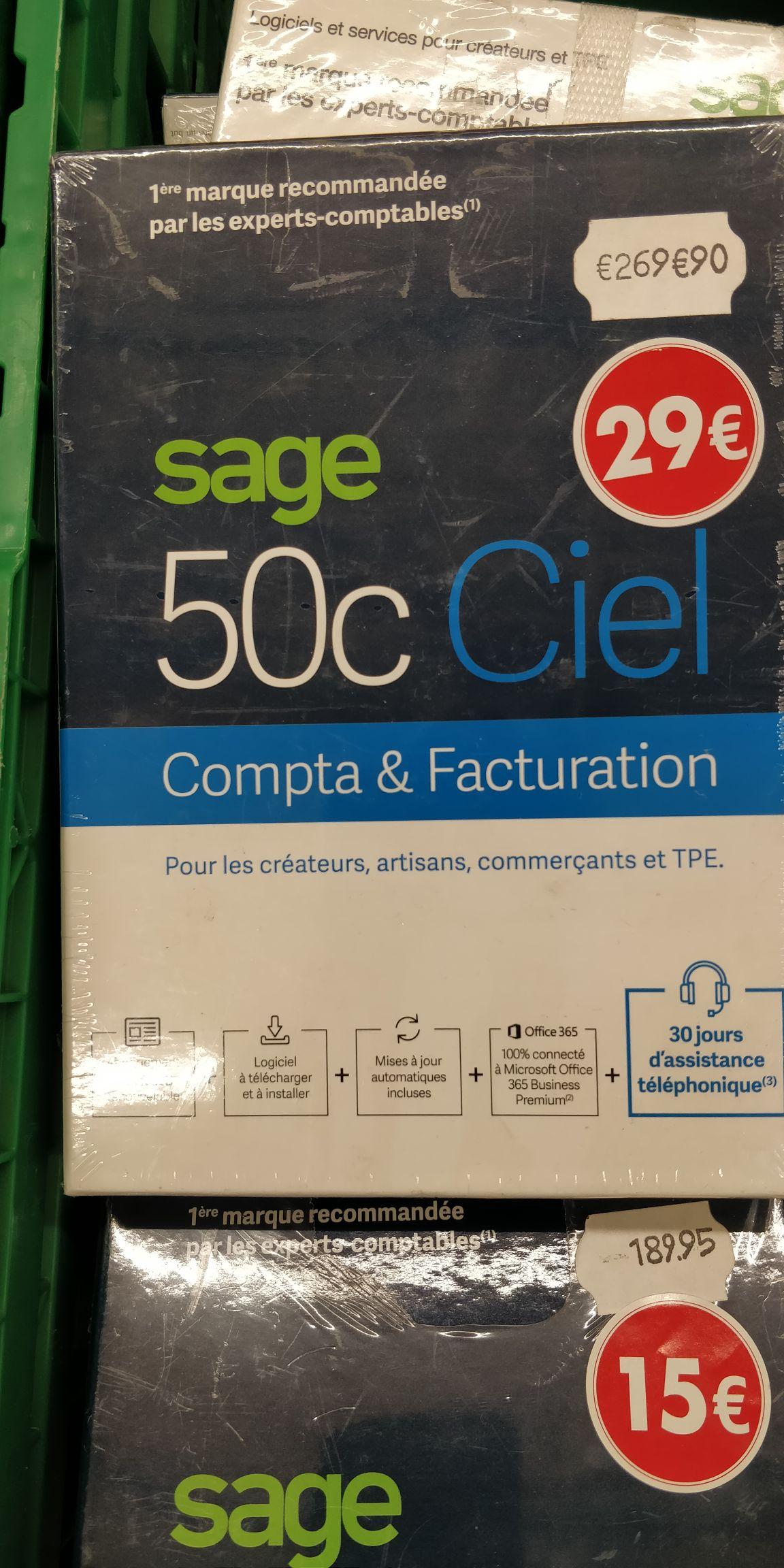 Suite logicielle de comptabilité gestion Sage 50c Ciel - Carrefour Liévin(62)