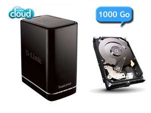 Nas D-Link DNS-320L cloud edition + Disque dur Seagate Barracuda 1 To paiement via Buyster
