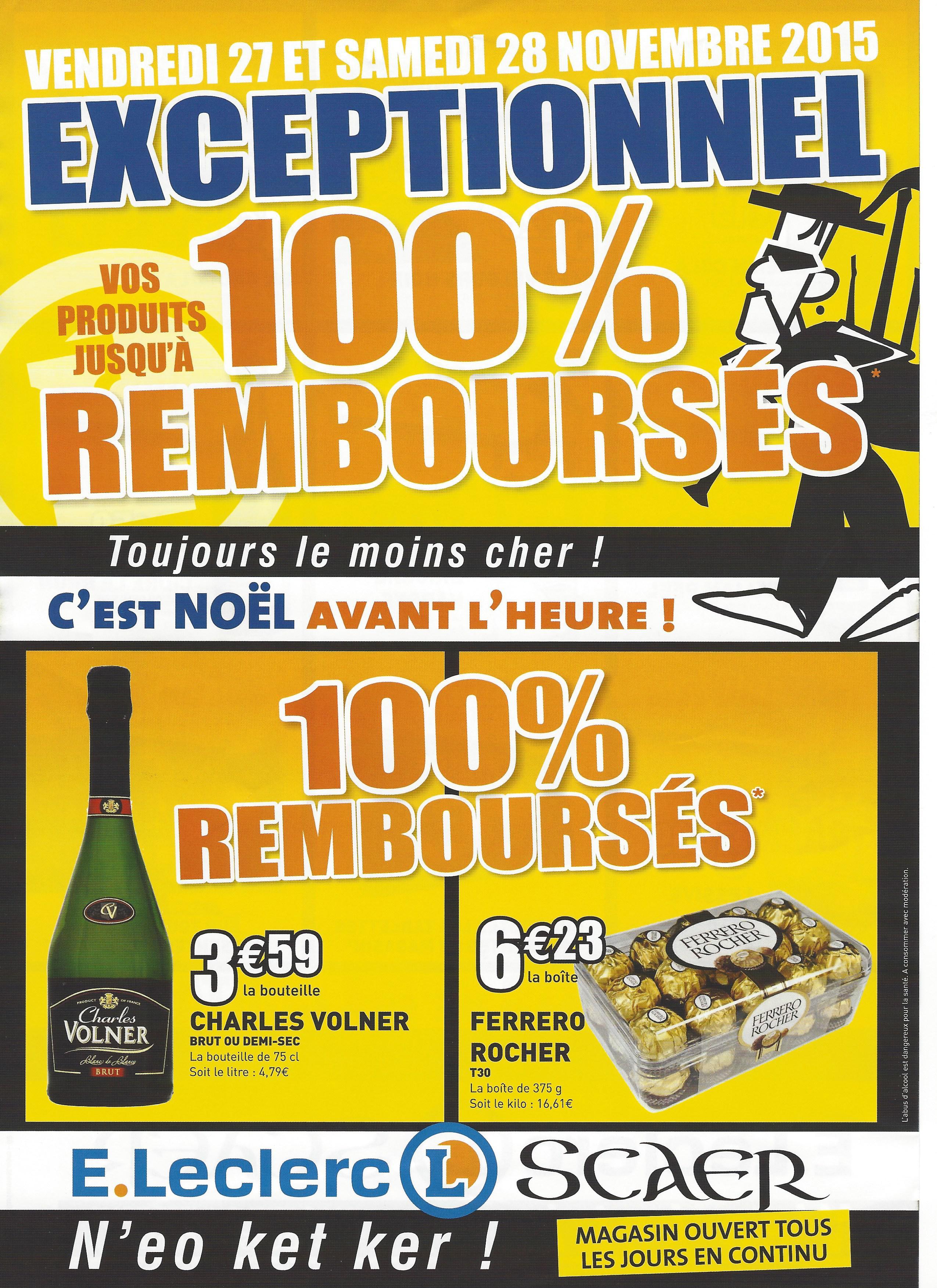 Sélection d'offres promotionnelles - Ex : Boite Ferrero Rocher T30 gratuite (100% remboursée en 2 bons d'achat)