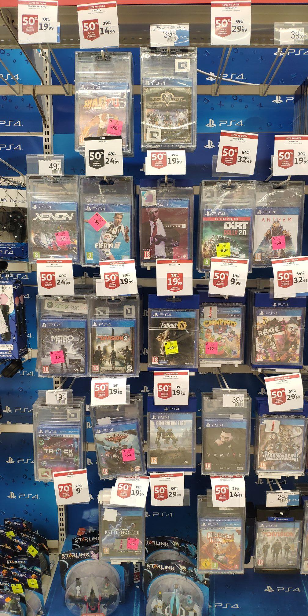 50% de réduction sur une sélection de Jeux PS4 - Ex: Fallout 76 - Perpignan (66)