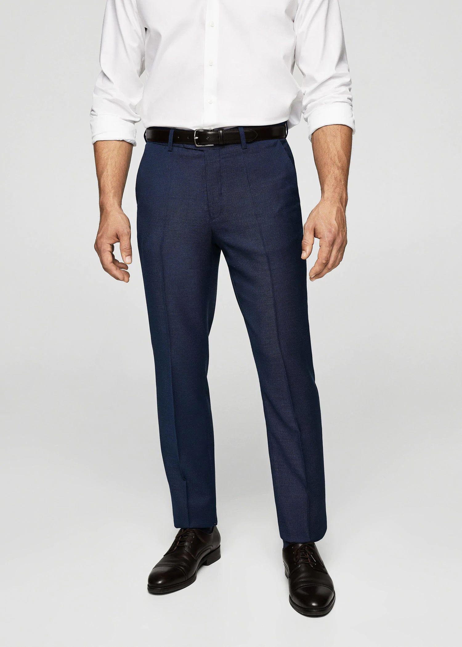 Sélection de produits en soldes - Ex : Pantalon de costume slim-fit microstructure (tailles 36 ou 38)