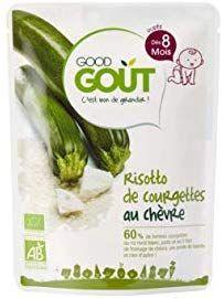 [Amazon Pantry] Plat pour bébé Good Goût Bio Risotto de Courgettes au Chèvre - dès 8 Mois, 190g