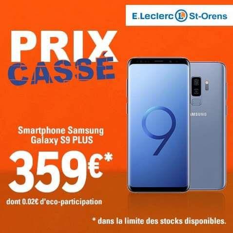 "Smartphone 6.2"" Samsung Galaxy S9+ (WQHD+, Exynos 9810, 6 Go de RAM, 64 Go, noir) - Blagnac / Saint-Orens-de-Gameville (31)"