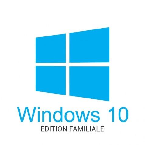 Système d'exploitation Microsoft Windows 10 Edition Famille - 32/64bits (Dématérialisé)