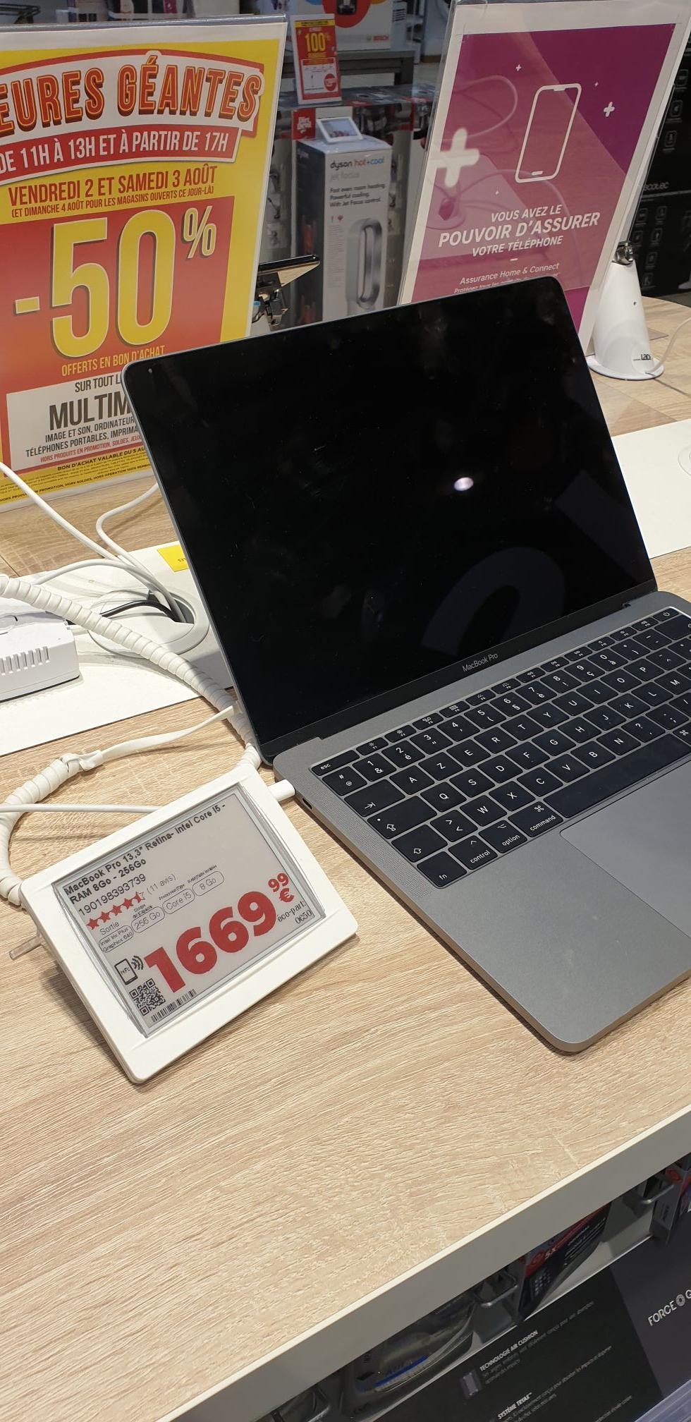 """Ordinateur Portable 13.3"""" Apple MacBook Pro 13 - i5, 256Go SSD, 8 Go RAM (Via 834,99€ en bon d'achat) - Mandelieu-la-Napoule (06)"""