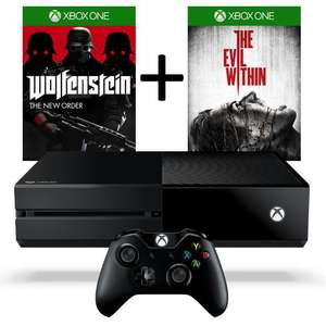 Pack console Xbox One + Wolfenstein : The New Order + The Evil Within