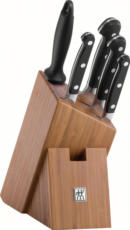 Bloc à Couteaux Zwilling 38436-000-0 Pro - 6 Pièces, Bambou