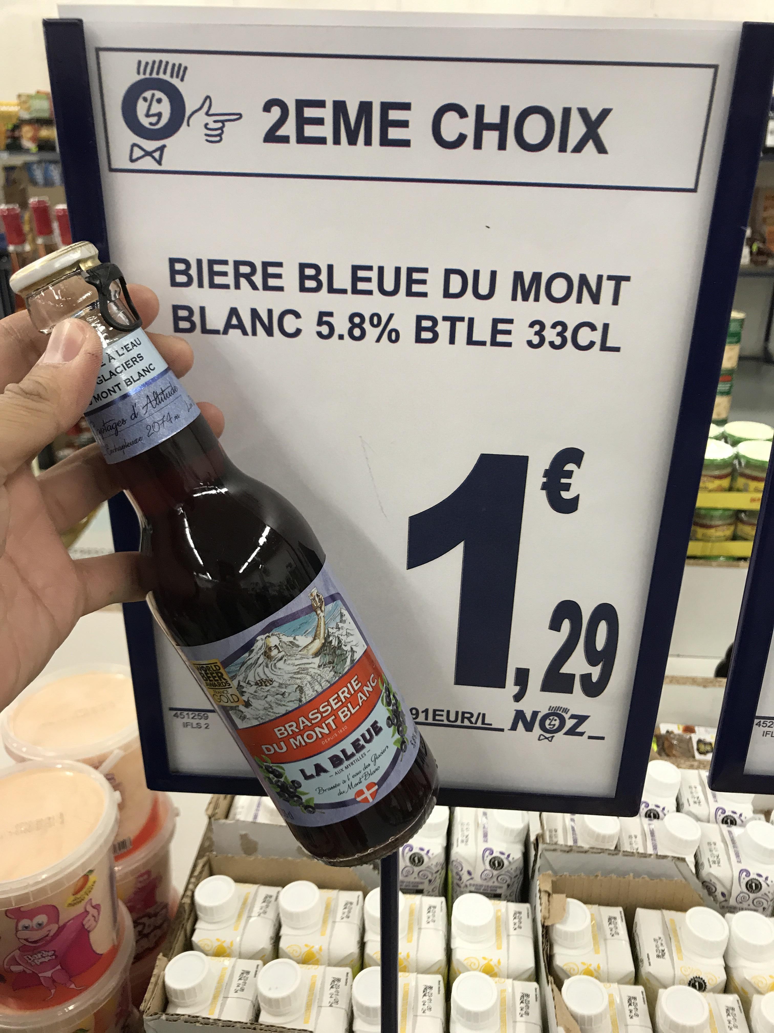 Bière bleue Mont-Blanc, 5.8% - 33CL
