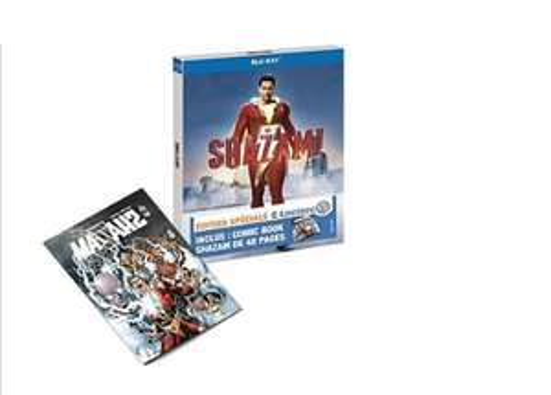 [Précommande] Blu-Ray Shazam ! + Comic book