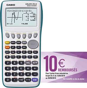 Calculatrice Graphique Casio Graph 35+E (via ODR de 10€)