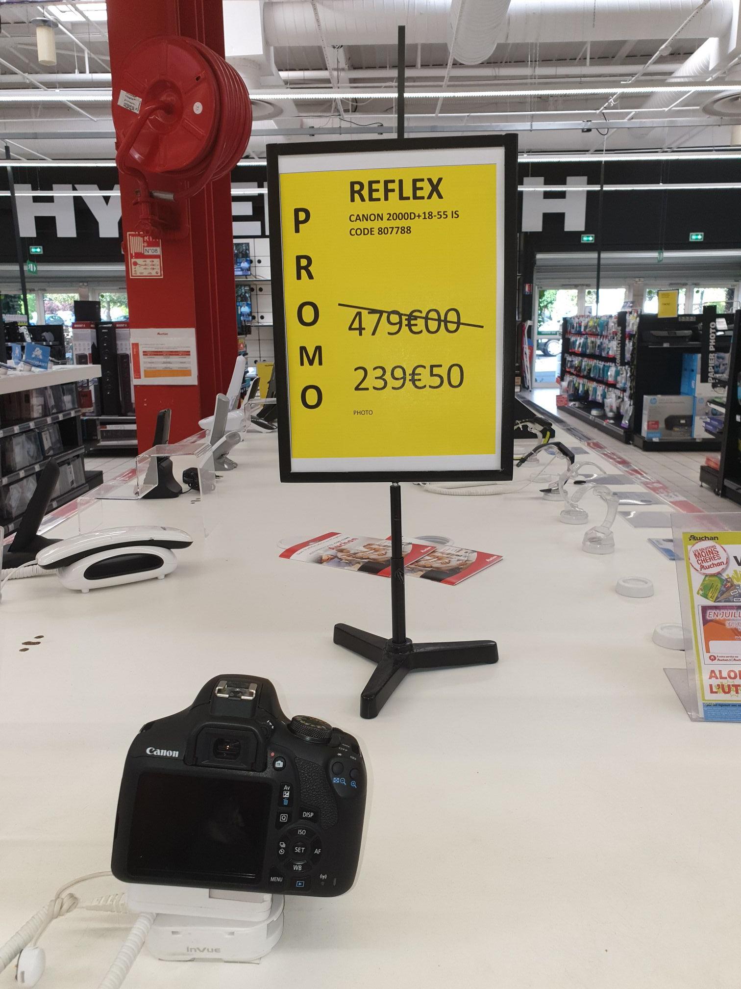 Appareil photo Reflex Canon 2000D+18-55 is - Auchan Saint herblain (44)