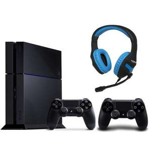 Pack PlayStation 4 - 500 Go + 2 manettes Dual Shock 4 + Casque KX gaming