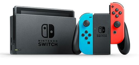 Console Nintendo Switch - avec paire de Joy-Con bleu/rouge ou gris
