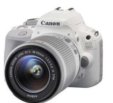 Reflex Canon EOS 100D + objectif 18-55 IS STM (via ODR 50€)