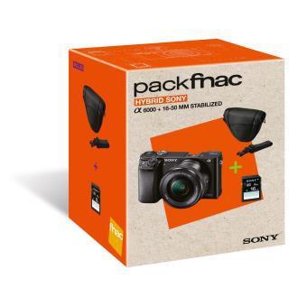 Pack Fnac Hybride Sony A6000 Noir + Objectif 16-50 mm PZ + Etui + Carte Mémoire SDHC 16 Go