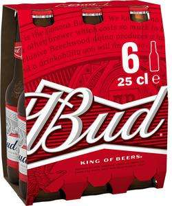 Pack 6 bières blondes Bud - 6 x 25 cl (Via Shopmium)