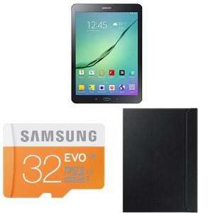 "Tablette 9,7""  Samsung Galaxy Tab S2 + cover + Carte microSD 32Go + odr de 50€ et de 20€ = 329€"