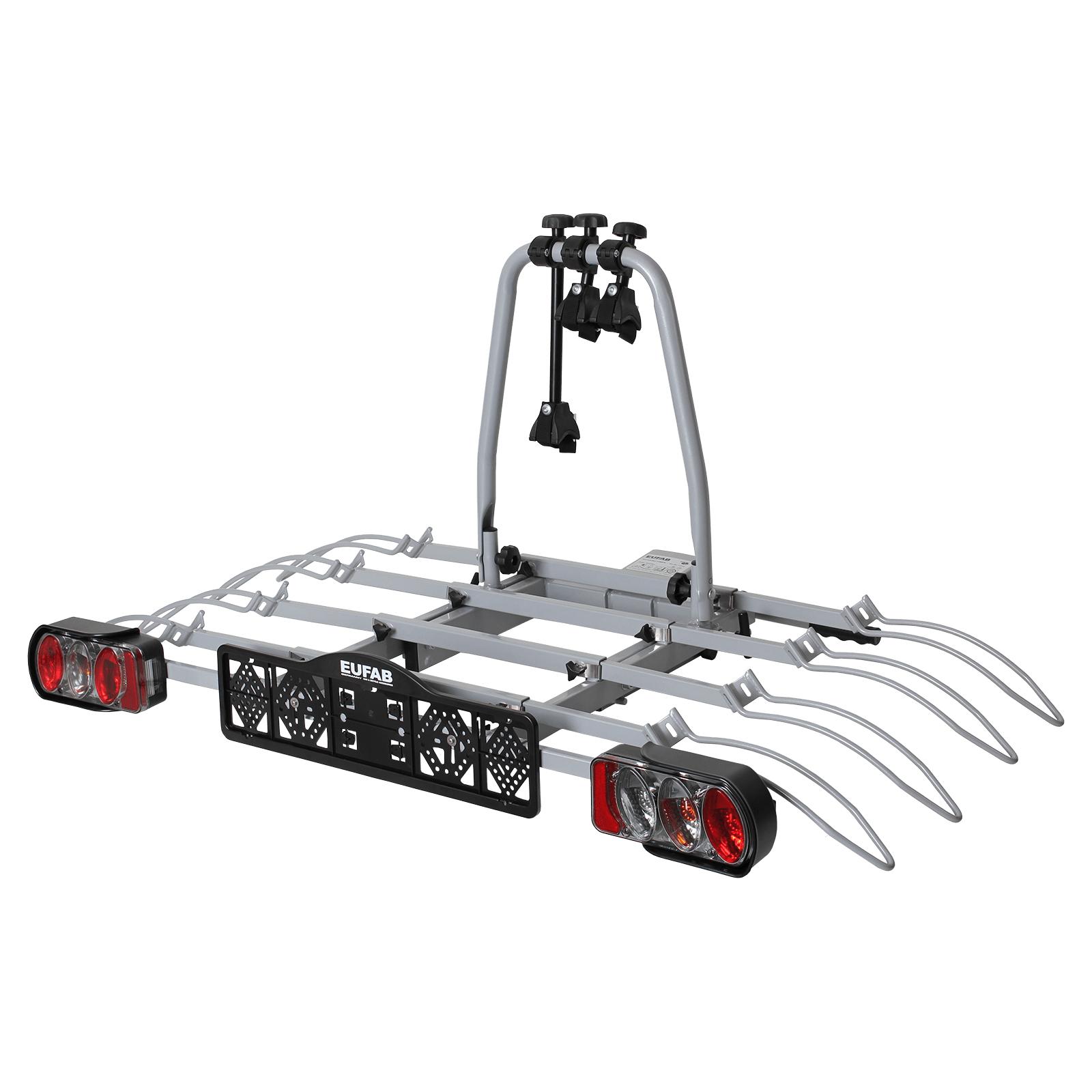[Membres CDAV] Porte-vélos plateforme sur attelage pour 4 vélos Eufab Luke 4 (70kg de charge max, montage sans outils)