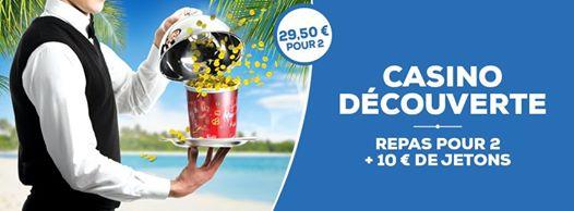 Offre Casino Découverte à 29,50€ pour 2 Personnes dont 10€ de crédits de jeu - Pasino Saint-Amand-les-Eaux (59)