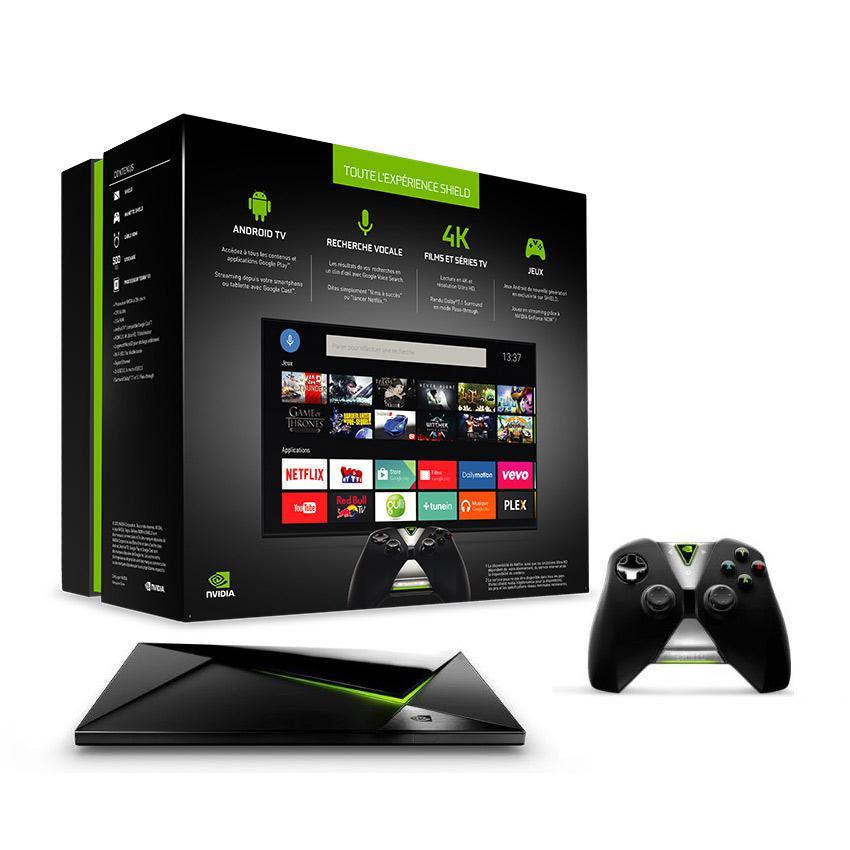Box Android Nvidia Shield Pro 500 Go + Manette + Télécommande