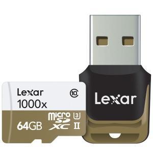 Carte mémoire microSDXC Lexar 64 Go Professional 1000x