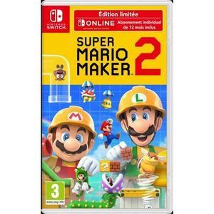 Super Mario Maker 2 Edition Limitée + Abonnement de 12 Mois Nintento Online sur Nintendo Switch