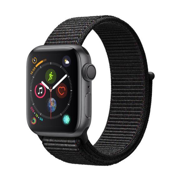 Montre connectée Apple Watch Series 4 (GPS) - Boîtier Aluminium, Gris Sidéral, 40mm avec Boucle Sport Noir