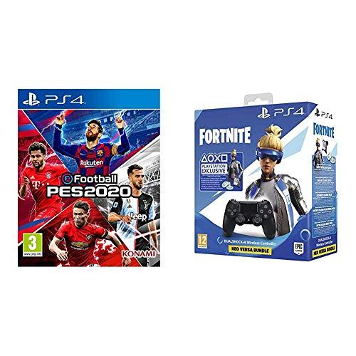 [Précommande] eFootball PES 2020 sur PS4 + Manette PS4 Dualshock 4 + 500 Vbucks + Skin artilleur royal Fortnite
