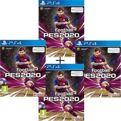[Précommande] Lot de 4 jeux eFootball PES 2020 sur PS4